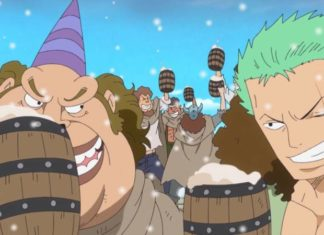 one piece drinking 324x235 - Gakuen K - High School Spinoff Manga endet im Januar