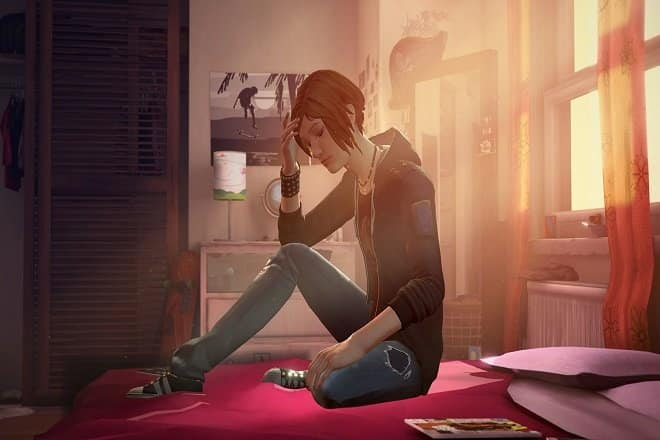 Life is Strange Before the Storm Chloe auf dem Bett
