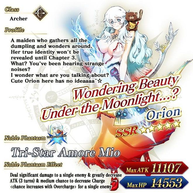 Fate/Grand Order Does Moon Goddess Dream of Dumplings Event