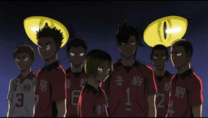 Team der Nekoma High aus Haikyu!!