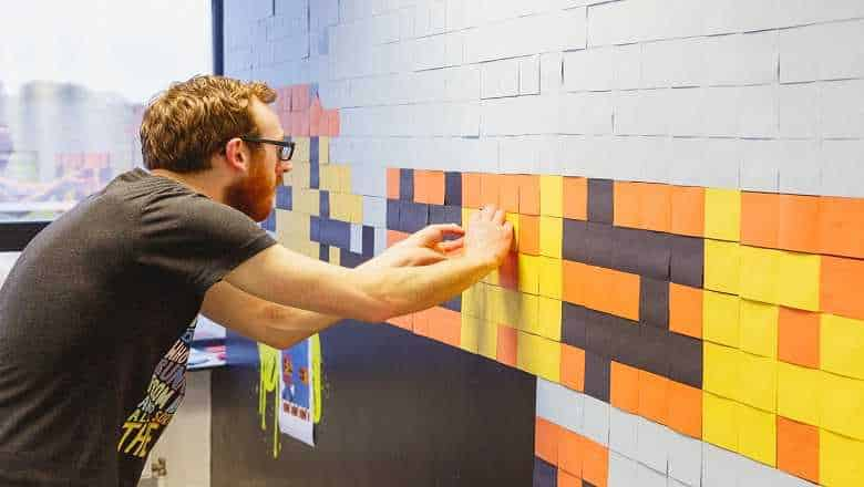Super Mario Post-It Wallart 3