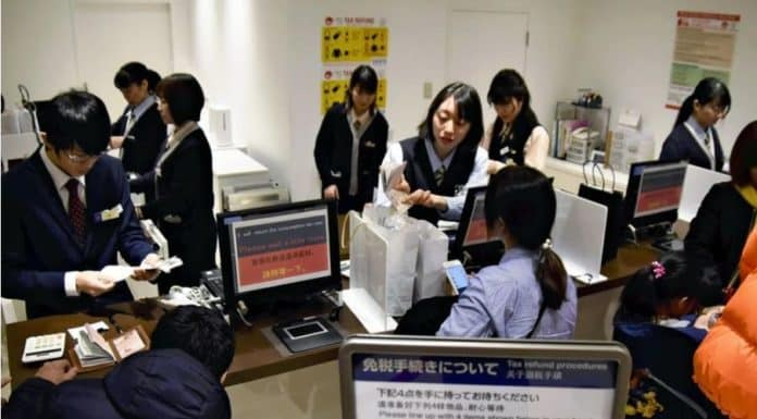 Japan Steuer taxfree